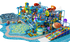 Ball Pool with Roller Slide of Indoor Playground Equipment for Kids