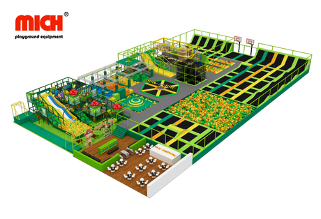 Customized Jungle Theme Indoor Trampoline Park with Soft Play Area
