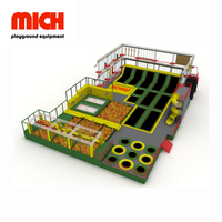 Medium Multifunctional Commercial Indoor Fitness Trampoline Park
