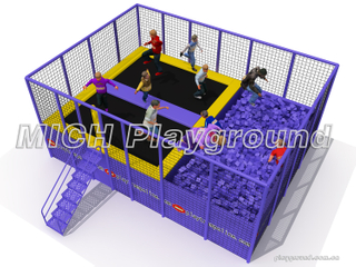 Small Trampoline Park with Foam Pit