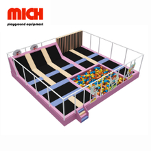 MICH Small Indoor Trampoline Park with Spider Wall Equipment