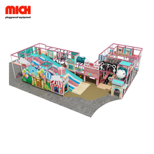 Candy Color Commercial Kids Soft Indoor Donat Slide Playground