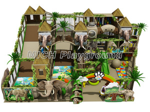 Jungle Themed Kids Indoor Play Centre Equipment for Sale