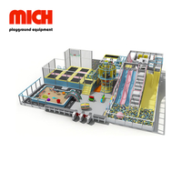 Commercial Kids Soft Indoor Playground with Trampoline Amusement Park
