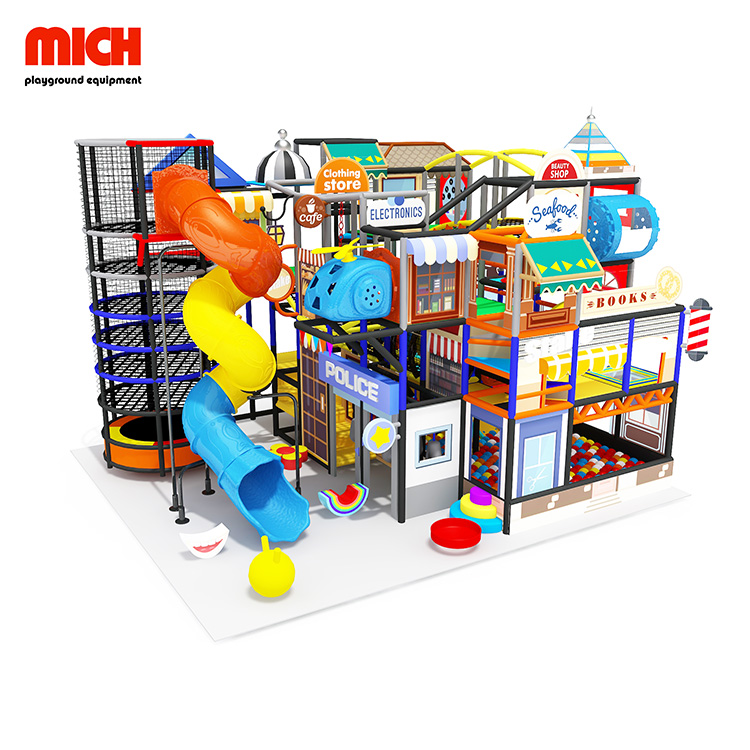 New-arrives Funny Kids Soft Playground with Spider Tower