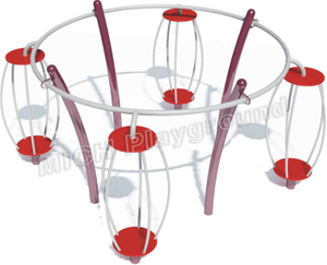 Kids Outdoor Playset with Rotating Cage