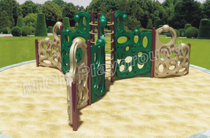 Children Outdoor Plastic Climbing Frame Playset