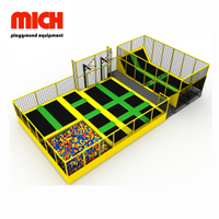 Small Indoor Kids Trampoline Park with Dodgeball