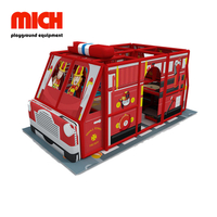 Fire Vehicle Theme Indoor Soft Mobile Playground Equipment for Kids