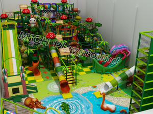 Mich Indoor Jungle Theme Toddler Soft Play with Large Slide for Sale
