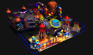 Space Theme Kids Indoor Play Centre