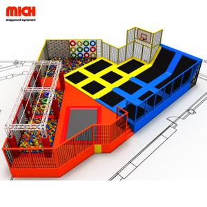 New design indoor amusement bungee trampoline park with ninja course
