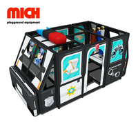 Police Car Theme Indoor Soft Mobile Playground for 3~12 Years Old Kids
