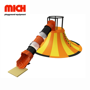 Funny Metal Volcano Slide Playground Facility for 3-12 Years Old Kids