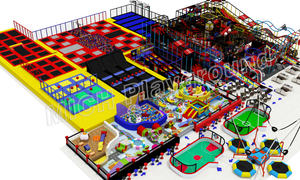 Customized Indoor Playground with Trampoline Park for Sale