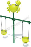 Good Quality Kids Outdoor Animal Theme Double Sits Swing Set for Sale