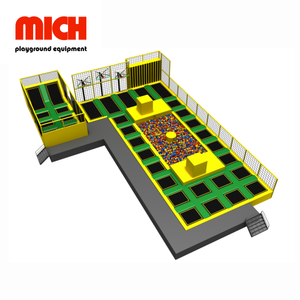 Various Games Indoor Trampoline Park with Spider Wall for Kids