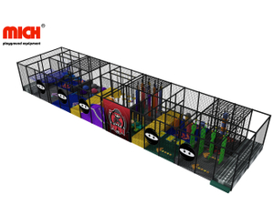 Kids Indoor Ninja Warrior Course Playground Equipment for Sale