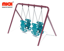 Outdoor Playground Equipment Cute Design Double Sits Swing Set for Sale