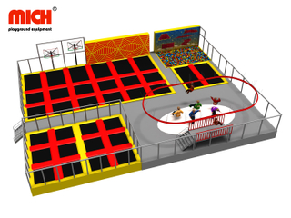 Commercial Indoor Trampoline Park with Zipline