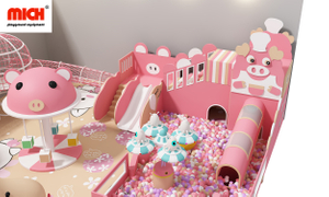 Custom Pink Children Indoor Playhouse