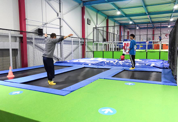 This trampoline park project located in Japan, total around 800sqm.