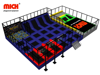 Indoor Trampoline Park with Basketball Foam Pit for Sale