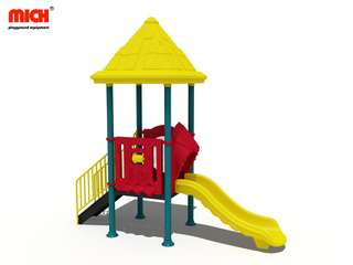 Small Outdoor Slides Set with Roof