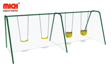 Manufacture Outdoor Four Sits Swings for Kids