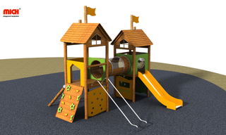 Small Children Outdoor Wooden Playhouse