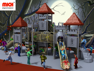 Customized 2 Levels Children Outdoor Playground