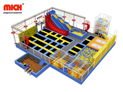 Fly High Indoor Trampoline Park With Sky Walk Ninja Warrior