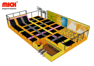 Chinese Manufacturer Indoor Trampoline Park with Basketball Paste Wall