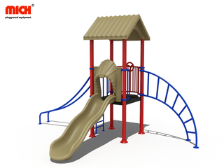 Small Outdoor Playground with Slides