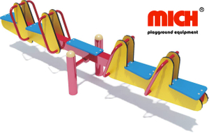 Manufacture Supply Kids Outdoor Playground Four Seats Seesaw Rid for Sale