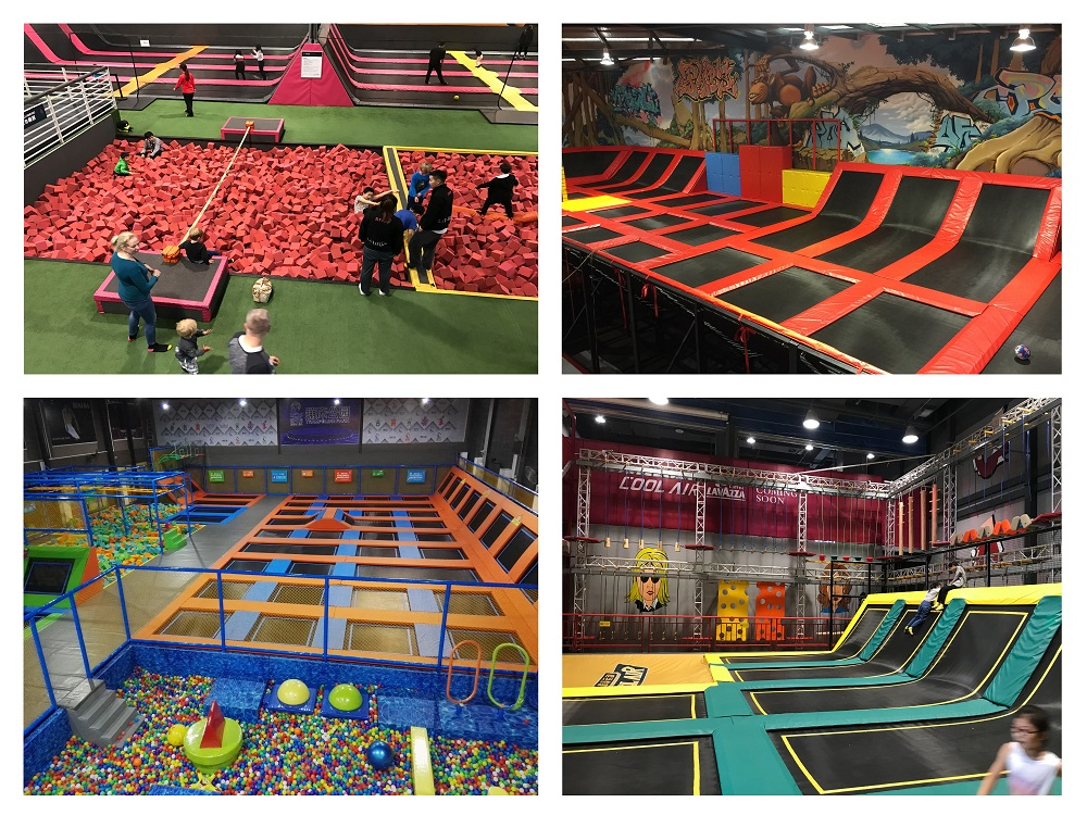 Trampoline Park with Airbag, Ninja Warrior