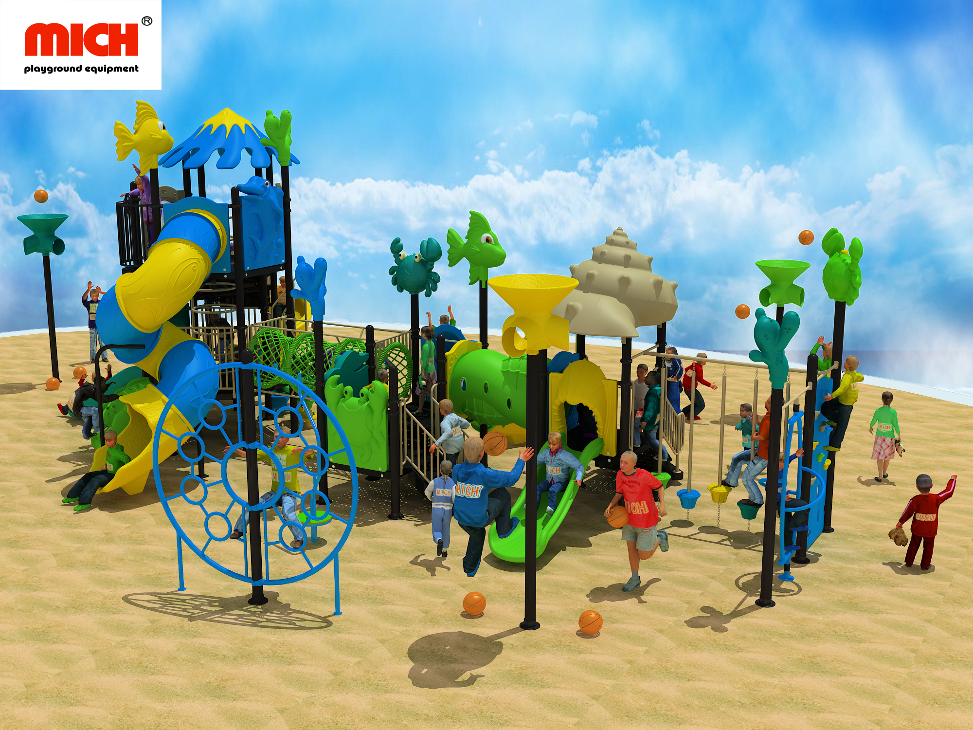 Customized Kids Outdoor Playground Equipment for Sale