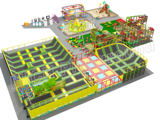 2400sqm Large Commercial Indoor Trampoline Playground